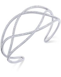Danori - Pavé Laurel Cuff Bracelet - Lyst