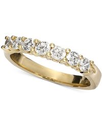 Macy's - Seven Diamond Band Ring In 14k Gold (3/4 Ct. T.w.) - Lyst
