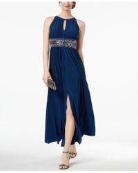 R & M Richards - R&m Richards Petite Sleeveless Beaded Gown - Lyst