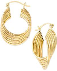 Macy's - Twirled Hoop Earrings In 14k Gold - Lyst