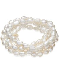 Macy's - Cultured Freshwater Baroque Pearl (7mm) Stretch Bracelet - Lyst