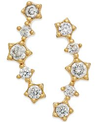 Macy's - Cubic Zirconia Ear Crawlers In 10k Gold - Lyst