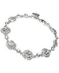 Carolee - Silver-tone Multi-cut Crystal Bracelet - Lyst