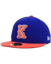 a31f13f81cd Lyst - KTZ New York Mets Trip Trucker 9Forty Cap in Blue for Men