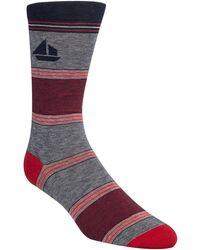 Cole Haan - Striped Sail Boat Crew Socks - Lyst