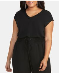 cd5af1da3 RACHEL Rachel Roy - Bina Trendy Plus Size Cropped V-neck Top - Lyst