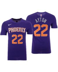 Lyst - Nike Devin Booker Phoenix Suns City Player T-shirt in Purple ... 350682c07
