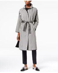 Weekend by Maxmara | Karman Check-print Reversible Raincoat | Lyst