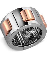 T Tahari - Hematite-tone Stretch Ring - Lyst