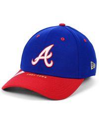 best service 7b605 51b2c 47 Brand Atlanta Braves Black Series Mvp Cap in Black for Men - Lyst
