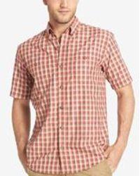 G.H.BASS - Men's Upf 40+ Plaid Short-sleeve Shirt - Lyst