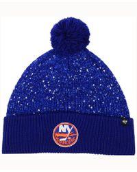 5401e4ab0cc Los Angeles Dodgers Mvp Curved Cap.  28. Macy s · 47 Brand - Women s Glint  Knit Hat - Lyst