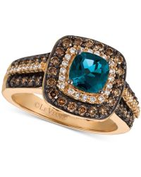 Le Vian - ® Chocolatier London Blue Topaz (1 Ct. T.w.) And Diamond (3/4 Ct. T.w.) Ring In 14k Rose Gold - Lyst
