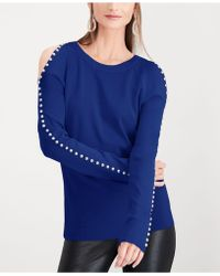 INC International Concepts - I.n.c. Petite Rhinestone Cold-shoulder Top, Created For Macy's - Lyst
