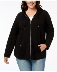 Style & Co. Zip-front Jacket - Black