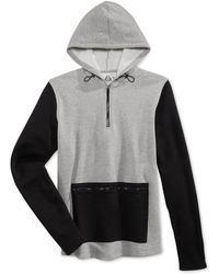 American Rag - Men's Colorblocked Quarter-zip Hoodie, Only At Macy's - Lyst