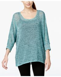 Alfani | Hi-low Sheer Knit Sweater, Only At Macy's | Lyst