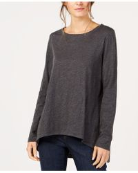 Eileen Fisher - Organic Cotton High-low Top - Lyst
