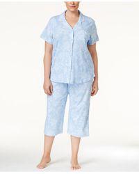 Karen Neuburger - Plus Size Cropped Pant Pajama Set - Lyst