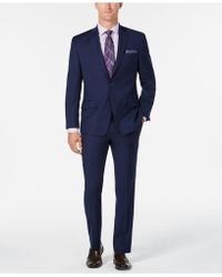 Michael Kors - Classic/regular Fit Coolmax Stretch Bright Blue Twill Wool Suit - Lyst