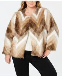 cbfc7f33781 Lyst - Alfani Plus Size Faux-fur Collar Belted Coat