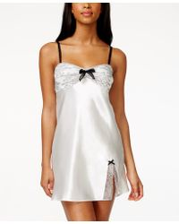 Morgan Taylor - Lace Trim Satin Bridal Chemise, Only At Macy's - Lyst