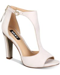DKNY - Colby T-strap Sandals, Created For Macy's - Lyst