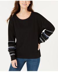 Style & Co. - Fringe-banded Sweatshirt, Created For Macy's - Lyst