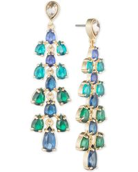 Carolee - Gold-tone Cascading Stone Drop Earrings - Lyst