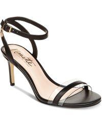 e196edaa708 Lyst - Steve Madden Seeme Lucite Dress Sandals in Natural