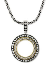 Effy Collection | Diamond Circle Pendant Necklace (1/6 Ct. T.w.) In 18k Gold And Sterling Silver | Lyst