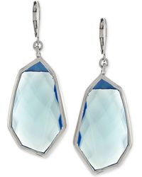 Vince Camuto - Silver-tone Blue Stone Drop Earrings - Lyst