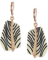 Vince Camuto - Rose Gold-tone Acetate Stone Drop Earrings - Lyst
