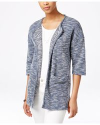 G.H.BASS - Heathered Open-front Cardigan - Lyst
