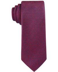 Con.struct - Con.struct Men's Red Texture-grid Slim Tie - Lyst