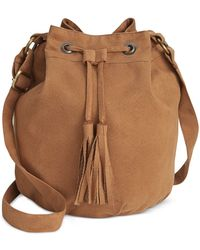 American Rag - Faux-suede Bucket Bag, Only At Macy's - Lyst