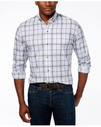 Cutter & Buck - Big And Tall Tidal Check Shirt - Lyst