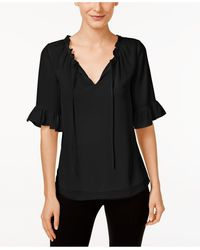 Cece by Cynthia Steffe - Short-sleeve Ruffled Blouse - Lyst
