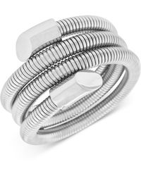 Vince Camuto - Silver-tone Wire Wrapped Coil Bracelet - Lyst