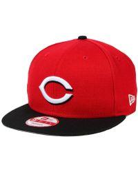 sports shoes 3d521 b878b KTZ - Cincinnati Reds 2-tone Link 9fifty Snapback Cap - Lyst