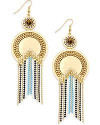 Danielle Nicole - Gold-tone Moon Goddess Drop Earrings - Lyst