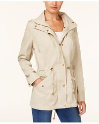 Style & Co. | Cotton Hooded Utility Jacket | Lyst
