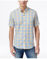 Cutter & Buck - Men's Big & Tall Abalone Check Short-sleeve Shirt - Lyst