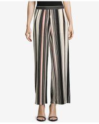 Eci - Striped Wide-leg Culottes - Lyst