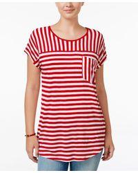 G.H.BASS - Striped Short-sleeve Top - Lyst
