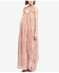 Wendy Bellissimo - Maternity Printed Maxi Dress - Lyst