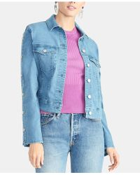 4b3d9d7e08c05 RACHEL Rachel Roy Plus Size Curvy Cropped Bell Sleeve Denim Jacket in Blue  - Lyst