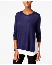 G.H.BASS - Button-back Layered-look Sweater - Lyst