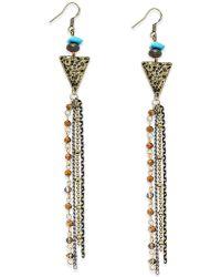 c.A.K.e. By Ali Khan - Inc International Concepts Gold-tone Geometric Fringe Drop Earrings, Only At Macy's - Lyst