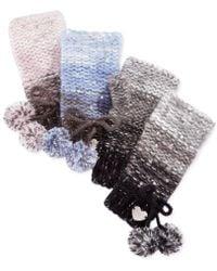 Betsey Johnson - Crystal Knit Fingerless Gloves - Lyst
